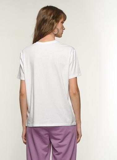 NGSTYLE Kadın Baskılı  Tişört NGKSS21TS0056 Beyaz
